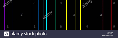 Emission Spectrum Bright Line Emission Spectra Of Carbon Stock Photo 11254437 Alamy