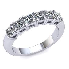Princess Cut Diamond Chart Popular Princess Cut Diamond Wedding Band Natural 1 50 Ct