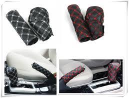 Car Interior Hand Brake Shift Knob Cover Gear Box 2 Pieces Set For Nissan Altima 370z Xmotion X Trail Qashqai