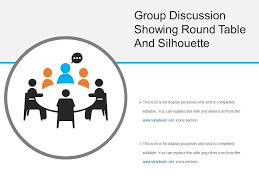 group discussion showing round table and silhouette slide01 group discussion showing round table and silhouette slide02