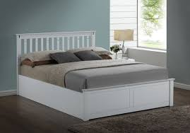 Kensington White Wooden StorageOttoman Kingsize Bed Frame Amazon