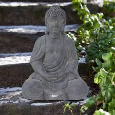 very large sitting buddha statue garden