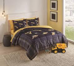 caterpillar cat equipment 68 x 96 twin size kids bedding
