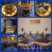 Blue And Gold Baby Shower Decorations Flower Pail Royal Prince Baby Shower Table Centerpiece Boys