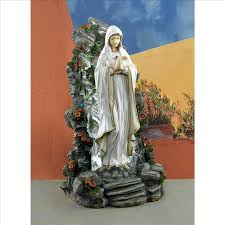 mary garden statue grotto illuminated garden statue of blessed virgin outdoor mary statue grotto mary garden statue