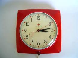 vintage kitchen clocks small retro clock timer blue tim