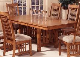 mission style dining room furniture trestle table within decorations 2