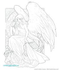 Guardian Angel Coloring Page Catholic Cf Kids Wisekidsinfo