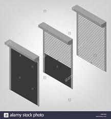 Stahl Sicherheitsrollläden Für Fenster Türen Und Garage Auf Einem