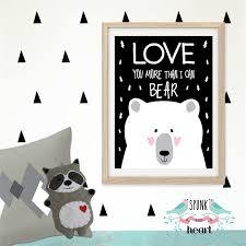 geometric polygon bear vinyl wall art decal on bear wall art nursery with bear wall art actionappraisal us best wallpaper 2018