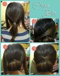 easy cross bun hairstyle tutorial