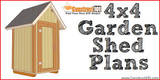 small garden shed plans 4 x4 gable