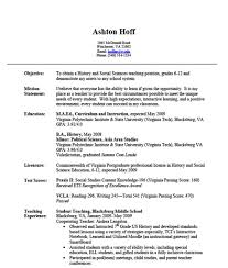History And Social Sciences Teaching Job Position Resume Format