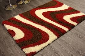red white brown thick arctic gy rug large 160x220cm