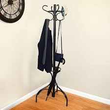 office coat tree. Metal Coat Rack, Hat Stand, Umbrella Holder, Hall Tree, Black, For Home Or Office Tree