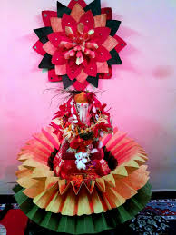ganpati decoration ideas for home peacock decorating of party