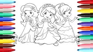 Small Picture Coloring Pages Strawberry Shortcake Berry Best Friends l How To