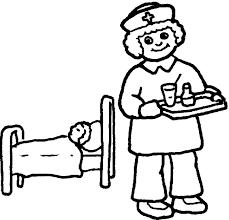 Reduced Male Nurse Coloring Page Lifetime Nurs 15249