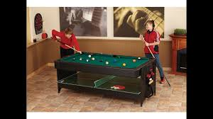 fat cat original 3 in 1 7 foot pockey game table air hockey billiards and table tennis