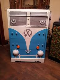 cool painted furniture. crazy cool vintage waterfall dresser we have turned it into a volkswagen furniturewaterfall dresserpainted painted furniture