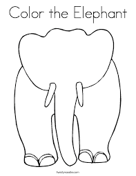 Small Picture Elephant Coloring Pages Twisty Noodle
