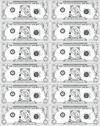 play money coloring sheets pages printable templates and paper game for