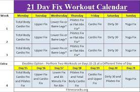 Autumns 21 Day Fix Training Schedule Free Downloadable
