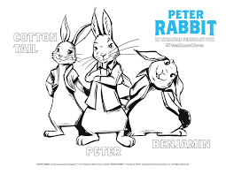 Peter Rabbit Coloring Pages Free Free Coloring Books