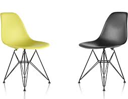 Molded plastic furniture Outdoor Eames Molded Plastic Side Chair With Wire Base Hive Modern Eames Molded Plastic Side Chair With Wire Base Hivemoderncom