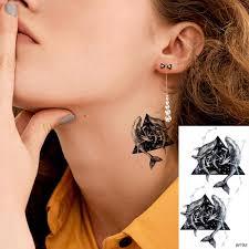 3d треугольник галактика кит временные татуировки наклейки шеи руки