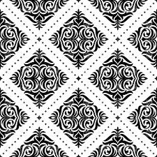 Damask Pattern Free Black And White Damask Pattern Vector Illustration Of Backgrounds