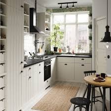 create a cosy small kitchen or kitchenette with ikea metod hittarp white paneled door fronts and