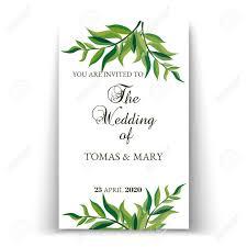Wedding Invitation Templates With Photo Greenery Wedding Invitation Template Printable Wedding Invites