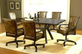 swivel kitchen chairs with casters canada chair stool on sets rolling wheels oak kitchen chairs swivel casters dining