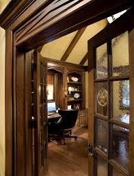home office doors with glass. Built In Bookcases With Glass Doors Home Office Traditional Tudor Style Wood Flooring Door