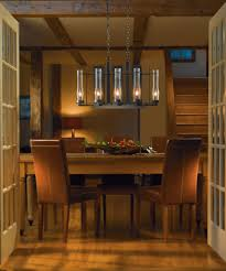 use a linear fixture over a long rectangular table or a round drum shade over a circular table to compliment your table and enhance the space
