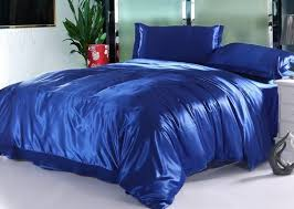 silk royal blue bedding set satin sheets california king queen full twin size duvet cover bedsheet ed bed in a bag quilt linen pink duvet comforters and