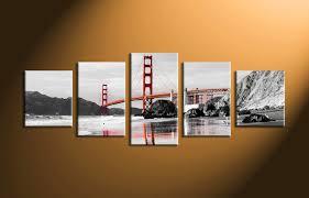 5 piece canvas prints. Modren Prints Home Wall Dcor 5 Piece Canvas Art Prints Black And White Print And Piece Canvas Prints P