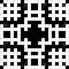 Vettoriale La Griglia Di Cruciverba Con I Numeri è Vuoto Image