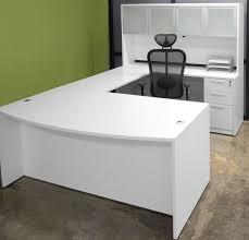 white office desk ikea. U Shape White Office Desk With Large Storage Ikea E