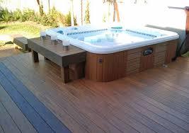 hot tub deck. Sunken Hot Tub Deck Design