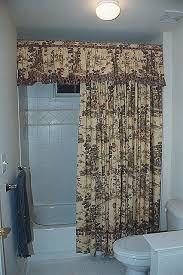 Appealing Shower Curtains With Valances Ideas with Cottage Charm French  Country Toile Valance And Shower Curtain