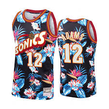 Steven Adams #12 Floral Fashion Jersey ...