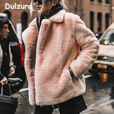 Ins Fashion Women Lambswool <b>Zipper</b> Jackets <b>2018 Winter Faux</b> ...