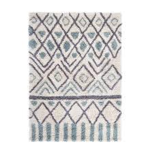 ocrul patterned berber style wool rug blue green grey la redoute interieurs la redoute