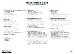 good job skills job skill examples for resumes list of good personal skills resume