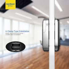 2 4 inch smart intelligent electric password rfid card fingerprint frameless glass door lock