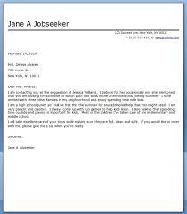 babysitter cover letter sample babysitting sample resume