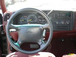 1995 Chevrolet C/K C1500 Extended Cab Burgundy Dashboard Photo ...