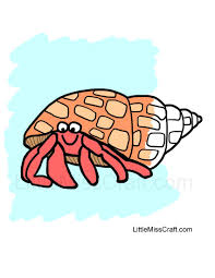Small Picture Crafts Hermit Crab Coloring Page